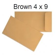 "Brown Envelope 4"" x9"" (500's)"