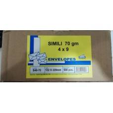 "Simili Envelope ( White ) 4"" x 9"" ( 500's )"