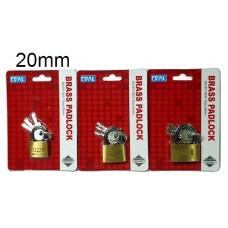 Epal Brass Padlock EP 381C -20mm (1x24)