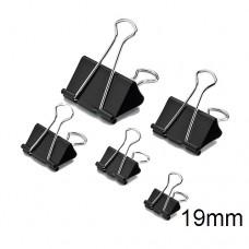 Binder Clip Black DL8355-19mm (1x12)