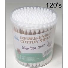 Cotton Bud Tin (Round) 120's (1x6)