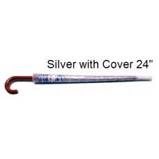 Umbrella Silver With Cover 24'' K226UVC (1x6)