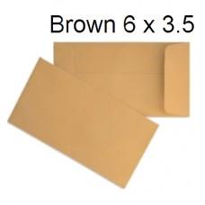 "Brown Envelope 6"" x 3.5"" (500's)"