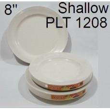 "AS Plate 8""Shallow PLT 1208 (6's) 1x3"