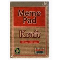 Memo Pad White 100's