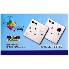 Geloof 13A Single Switch Socket (1x10)