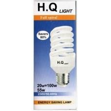 HQ Energy Saving 20w Spiral Lamp (10pcs /Pkt)