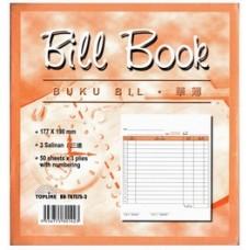"""Bill Book ( No ) 7x7.5"""" 50x3 BB-TN7575-3"""
