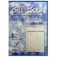 """Bill Book 10x7"""" 40x2 BB-T1007-2 (1x10)"""