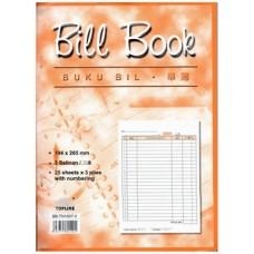 """Bill Book ( No ) 10x7"""" 25x3 BB-TN1007-3"""
