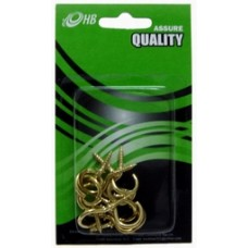 Curtain Hook -Gold 3/4""