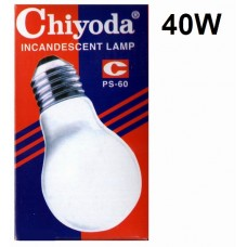 Chiyoda Bulb Frosted Screw 40w (10pcs /Pkt)
