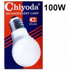 Chiyoda Bulb Frosted Screw 100w (10pcs /Pkt)