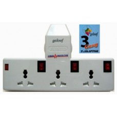 Geloof 3 Way T- Adaptor with Surge & Protector