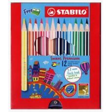 Swans Colour Pencil 3.8 Premium 12S 1863B