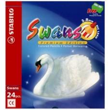 Swans Colour Pencil 3.8 Premium 24L 1869B