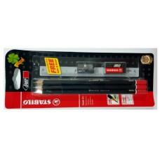 Stabilo Micro 2B Pencil + Ruler + Eraser 288BL6S1