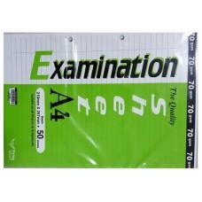 F/Wheel Exam Sheet A4-50's FW7005-050