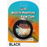 Foam Tape 18mm x 1.5M Black