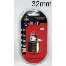 KINGKONG 985002 Brass Padlock 32mm (1x6)