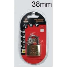 KINGKONG 985003 Brass Padlock 38mm (1x6)