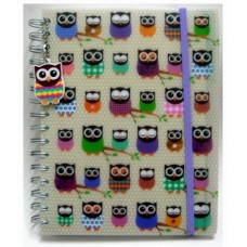 Spiral Note Book Owl- SCA5-130L