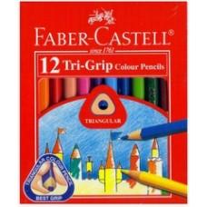 Faber Castell Tri Colour Pencil 12S