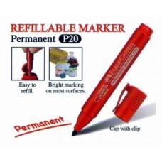 Faber Castell RF Marker P20 Bullet 254121 Red