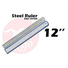 """Kijo Steel Ruler 12"""" 30cm"""