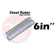 """KIJO Steel Ruler 6"""" 15cm"""
