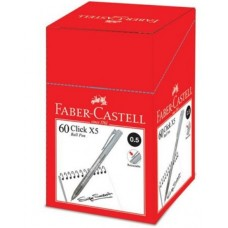 Faber Castell Click X5 Ball Pen 0.5 Black (1x60)