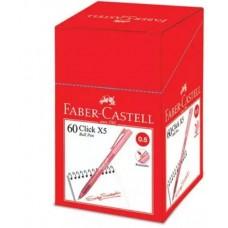 Faber Castell Click X5 Ball Pen 0.5 Red (1x60)