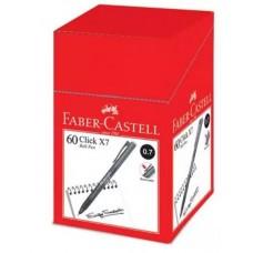 Faber Castell Click X7 Ball Pen 0.7 Black (1x60)