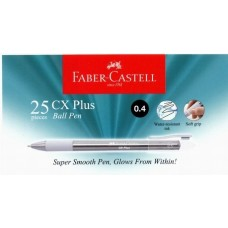Faber Castell Ball Pen CX Plus 0.4 Black (25pcs /Tube)