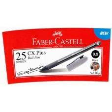 Faber Castell Ball Pen CX Plus 0.5 Black (25pcs /Tube)