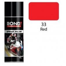BOND 7 Spray Paint Red 33