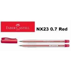 Faber Castell Ball Pen NX23 0.7 Red (30pcs /Tube)